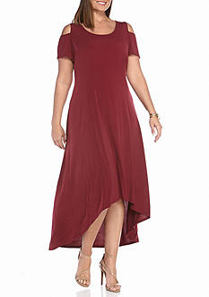 Kim Rogers® Cold Shoulder Maxi Dress