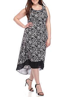 Kim Rogers Plus Size Sleeveless High Low Dress