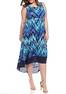 Kim Rogers Plus Size Sleeveless High-Low Dress