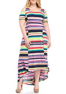 Kim Rogers Plus Size Cold Shoulder Dress