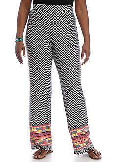 Kim Rogers Plus Size Border Chevron Soft Pant
