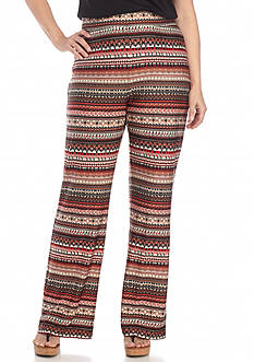Kim Rogers® Plus Size Striped Print Pants