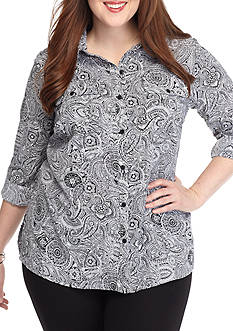 Kim Rogers Plus Size Utility Top