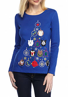 Kim Rogers Christmas Jewel Tree Tee Shirt