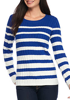 Kim Rogers The Wide Rib Crew Neck Sweater