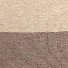 Plus Size Sweaters: Cowl & Turtleneck: Taupe Jeanne Pierre Plus Size Asymmetric Zip Collar Tress Colorblock Sweatshirt