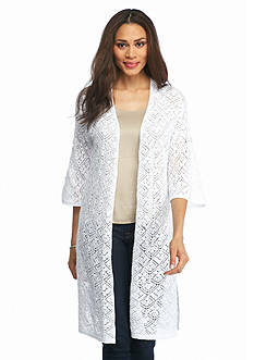 Jeanne Pierre Crochet Duster Sweater