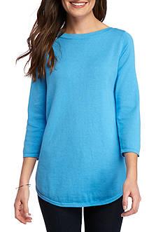 Jeanne Pierre Solid Cotton Sweater