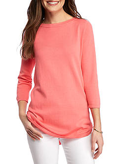 Jeanne Pierre Solid Cotton Sweater
