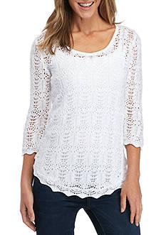 Jeanne Pierre Scoop Neck Sweater