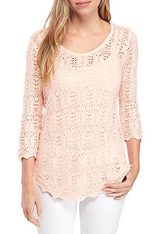 Jeanne Pierre Scoop Neck Sweater