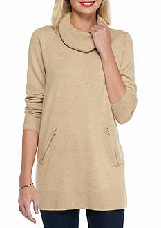 Jeanne Pierre Long Cowl Neck Tunic