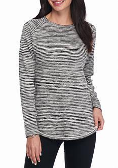 Eight Eight Eight Long Sleeve Herringbone Pullover Sweater