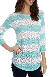 Eight Eight Eight Stripe Crochet Sweater