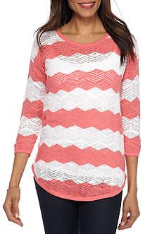 Eight Eight Eight Stripe Crochet Sweater