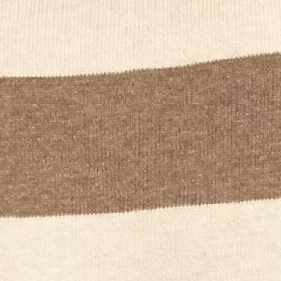 Jeanne Pierre Women Sale: Tan Heather/Light Brown Jeanne Pierre Fine Gauge Stripe Pullover Sweater
