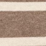 Jeanne Pierre Women Sale: Taupe Combo Jeanne Pierre Fine Gauge Stripe Turtleneck Sweater