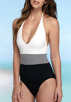 Vince Camuto Color Block One-Piece Swimsuit