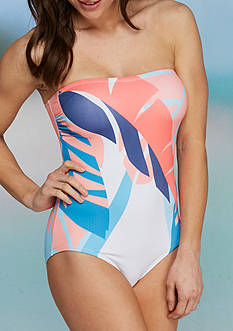 Vince Camuto Rainforest Bandeau One Piece Swimsuit