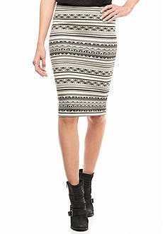 A. Byer Geo Print Skirt