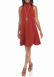A. Byer Knit Dress With Necklace