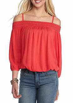 A Byer Cold-Shoulder Long Sleeve Top