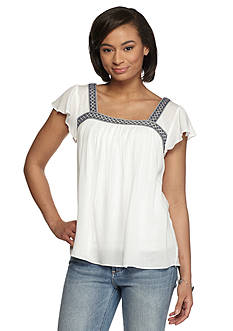ASHLEY-26 Intl Square Neck Top