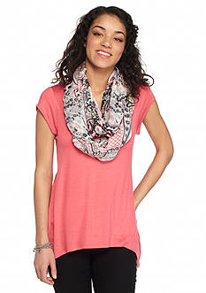 A. Byer Knit Top with Scarf