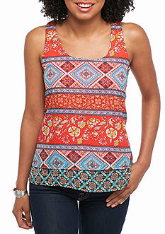 A. Byer Layered Printed Top