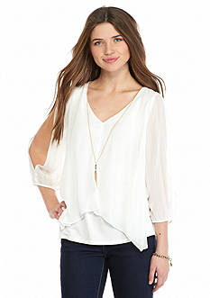 A. Byer Flyaway Necklace Top