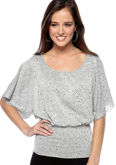 A. Byer Sequin Top with Lace Back