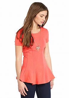 A. Byer Fit-and-Flare Necklace Top