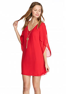 A. Byer Tulip Sleeve Shift Dress
