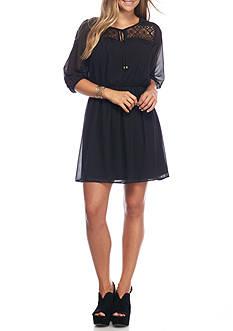 A. Byer Long Sleeve Cinched Waist Dress