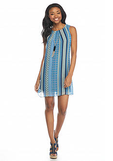 A. Byer Mixed Print Shift Dress