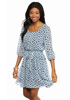 A. Byer Crochet Back Swing Dress