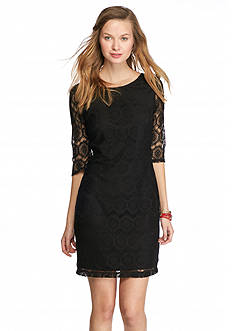 A. Byer Crochet Lace Sheath Dress