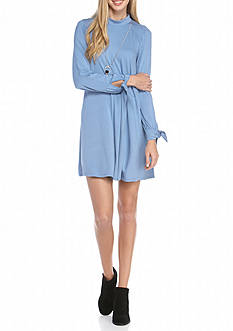 A. Byer Long Sleeve Knit Dress with Necklace