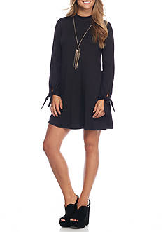 A. Byer Long Sleeve Knit Necklace Dress
