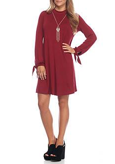 A. Byer Long Sleeve Knit Necklace Dress