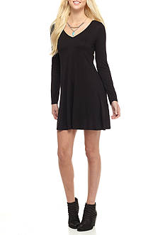 A. Byer Lace-Up Knit Dress