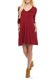 A. Byer Lace-Up Knit Dress
