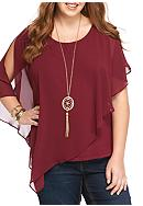 A. Byer Plus Size Popover Top