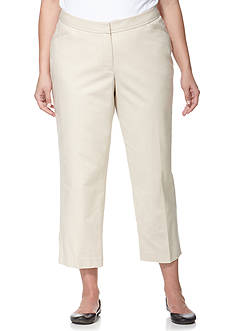 Rafaella Plus Size Double Weave Ankle Pants