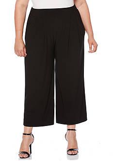 Rafaella Plus Size Wide Crop Pants