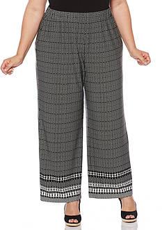 Rafaella Plus Size Tribal Printed Pant