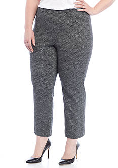 Rafaella Plus Size Mesh Texture Supreme Pants