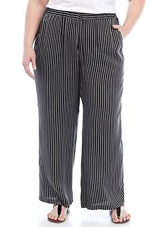 Rafaella Plus Woven Stripe Texture Pants