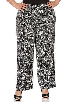 Rafaella Plus Size Distressed Tile Path Pants