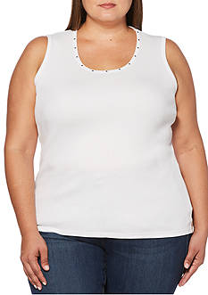 Rafaella Plus Size Heat Set Tank